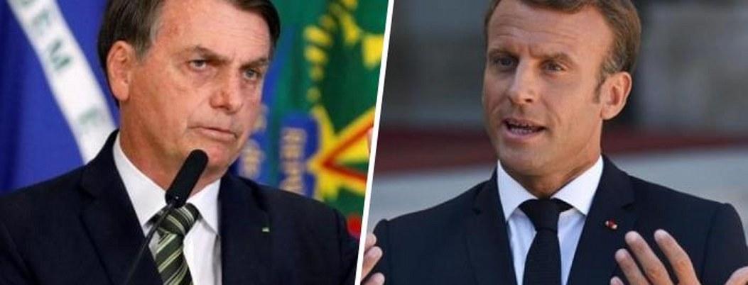 """Bolsonaro sólo aceptará ayuda del G7 si Marcon retira """"insultos"""""""