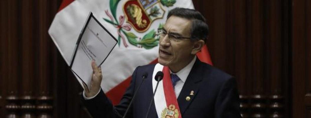 Gobierno de Perú presenta proyecto para adelantar elecciones en 2020