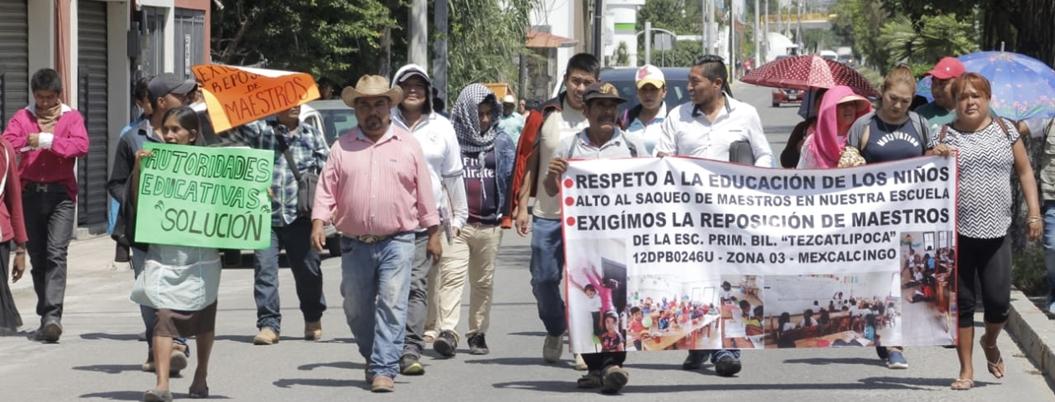 SEG dejó sin maestros a primaria en comunidad de Chilapa