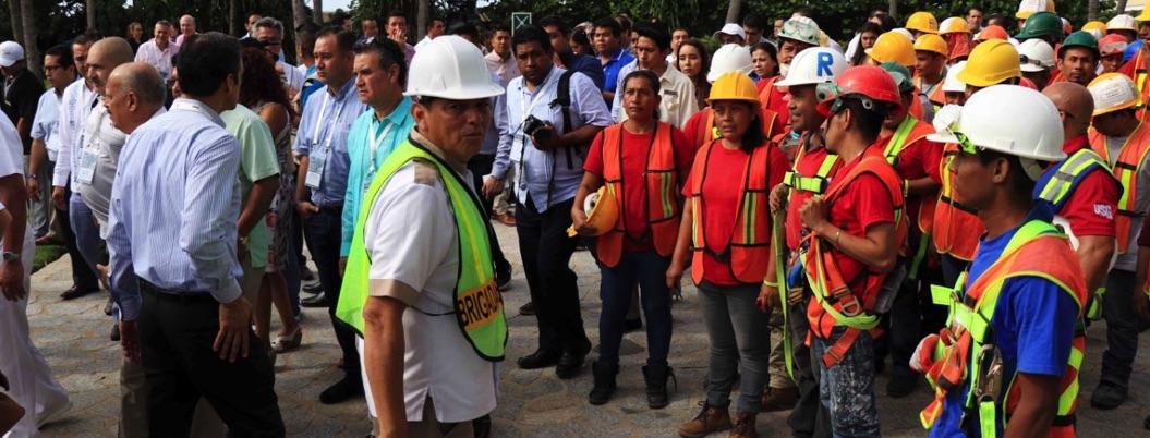 Gobierno de Acapulco participa en simulacro en conmemoración de sismos