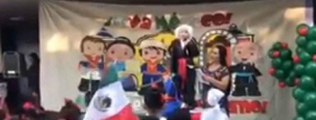 """""""Viva México, cabrones"""", el grito de un niño difrazado de Hidalgo"""
