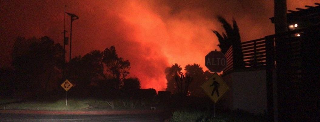 Avanza control de incendios forestales en Baja California
