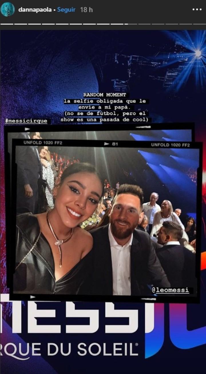 Danna Paola presume selfie con Messi 2