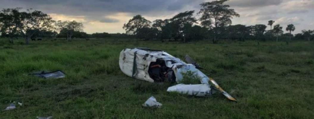 Helicóptero cae a tierra en Veracruz; hay tres personas heridas