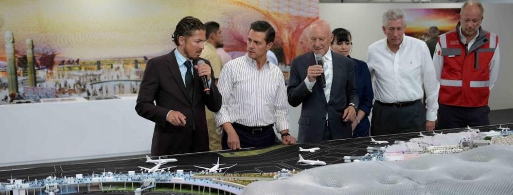 Peña otorgó contratos millonarios a empresas amigas para el NAIM