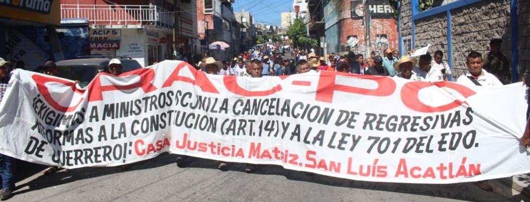 CRAC marcha para recuperar derechos de Casas de Justicia