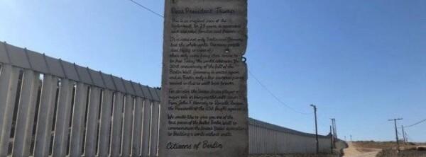 Envían a Trump trozo del Muro de Berlín 1