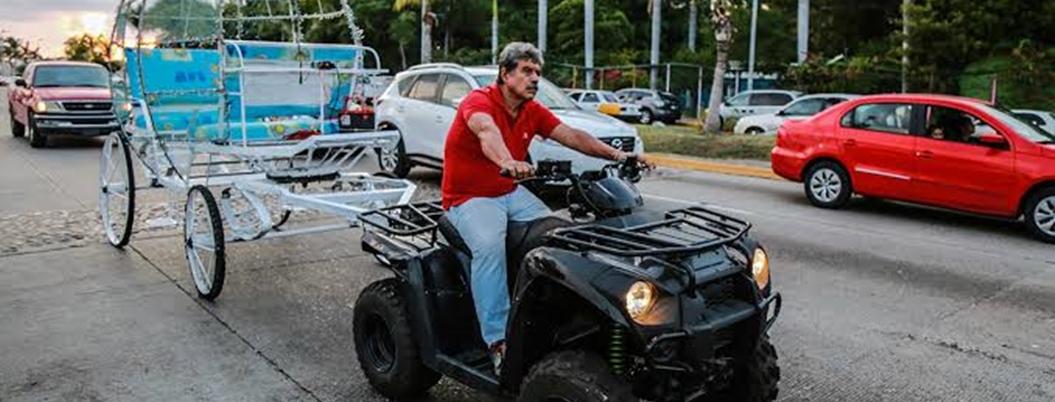 Calandrieros de Acapulco intercambian caballos por cuatrimotos