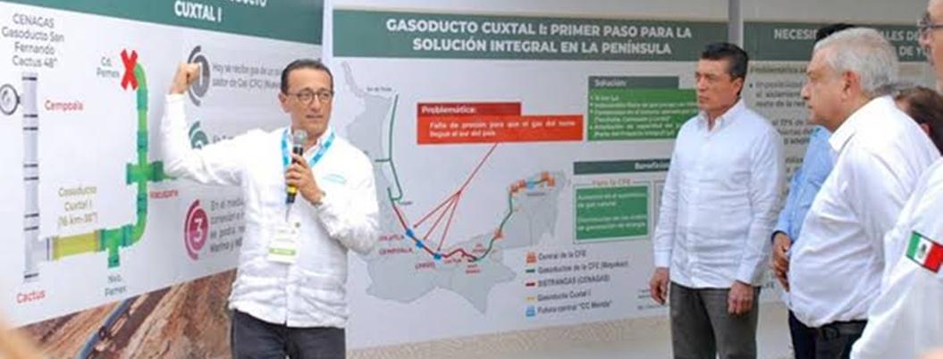AMLO abandera inicio de construcción de gasoducto Cuxtla
