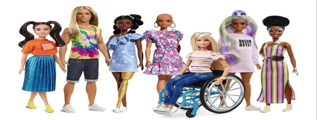 Mattel lanza Barbies con vitiligo y con prótesis de oro