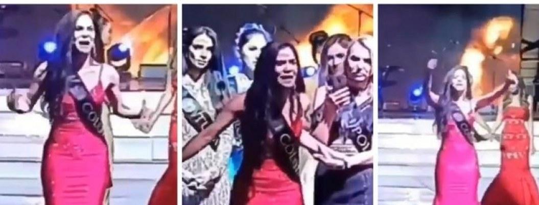 """""""Está arreglado"""": Miss Colombia acusa fraude en pleno escenario"""