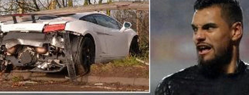 """""""Chiquito"""" Romero sufre fuerte accidente en su lujoso Lamborghini"""