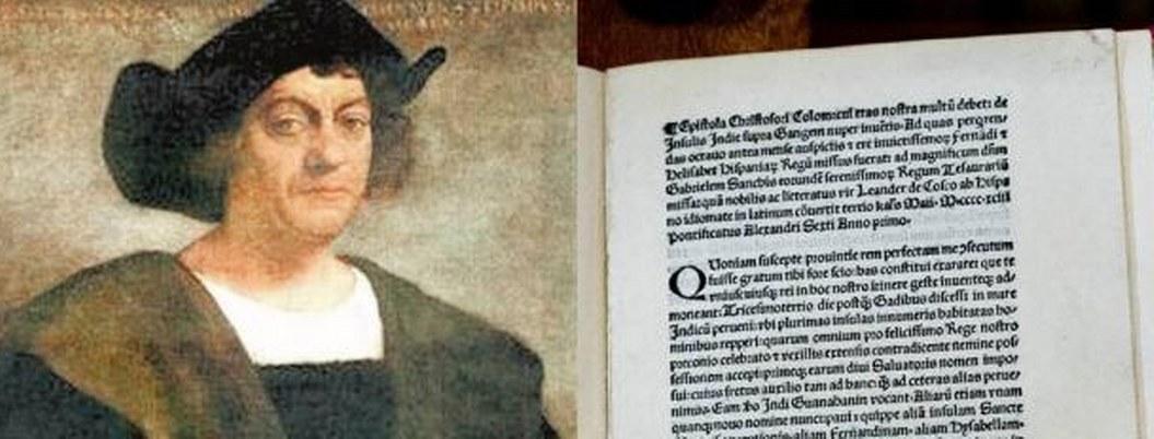 Recuperan carta robada de Cristóbal Colón