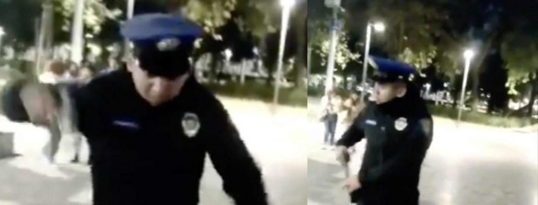 VIDEO  Policía amenaza con dispararle a perro que lo mordió