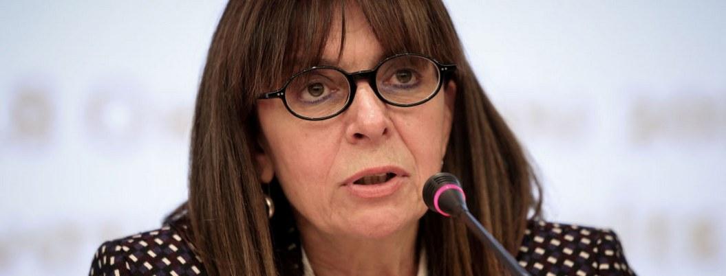 Katerina Sakellaropoulou, la primera presidenta electa en Grecia