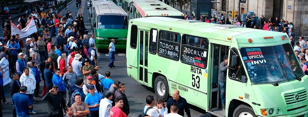 Transportistas protestarán contra Línea 5 del Metrobús en CDMX