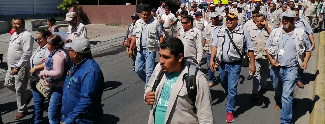 Marcha en Chilpancingo personal de Vectores