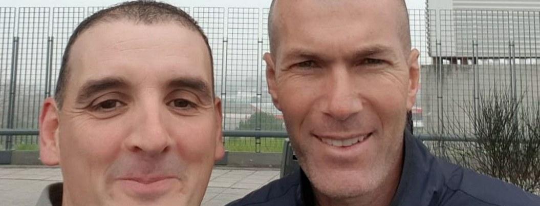 """""""Nadie me creería que Zidane me chocó"""": afectado le pide una selfie"""