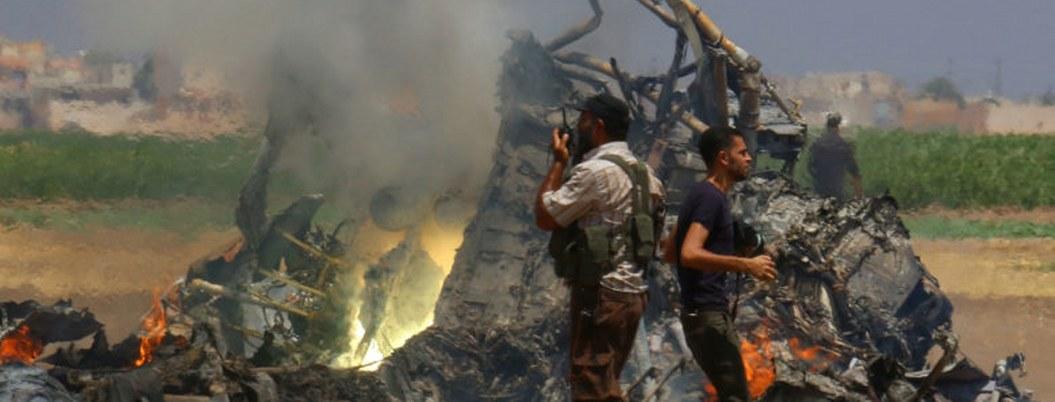 Derriban helicóptero del ejército sirio; mueren sus dos pilotos