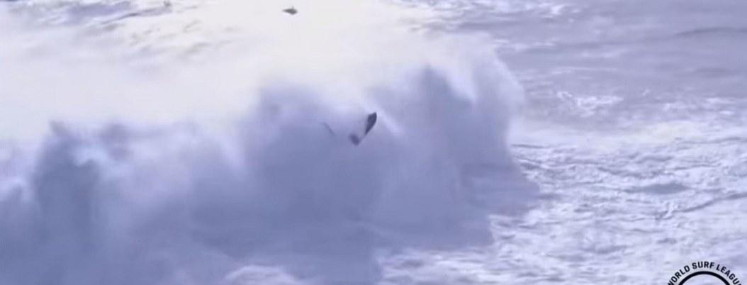 Gigantesca ola se traga a surfista en campeonato