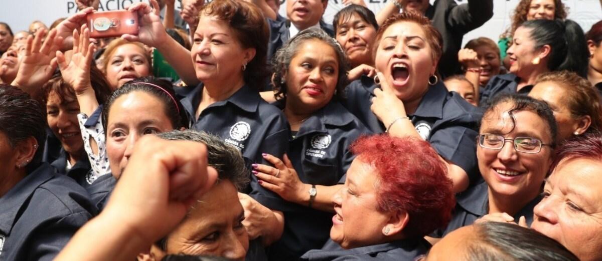 Basifican a 462 empleados de limpieza en San Lázaro