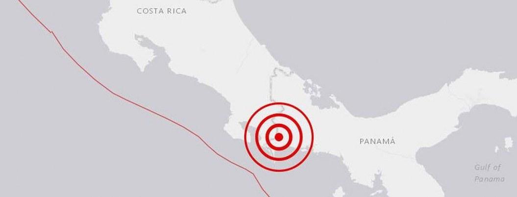 Sismo de 5.0 sacude zona fronteriza entre Panamá y Costa Rica