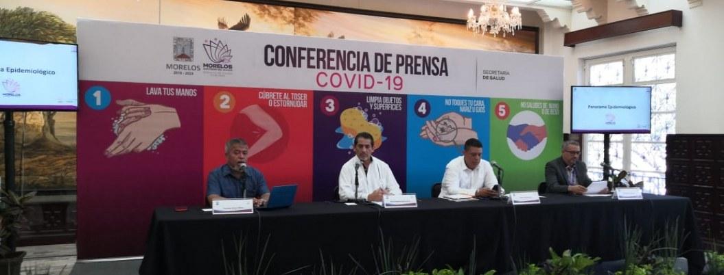 Aumenta a 4 el número de casos confirmados de COVID-19 en Morelos