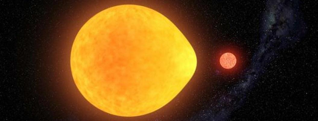 Descubren estrella pulsante con forma de una lagrima