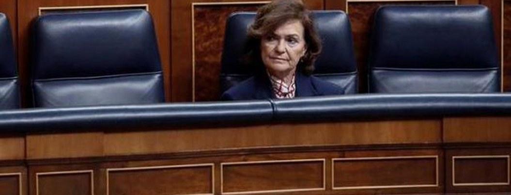Vicepresidenta de España infectada con coronavirus