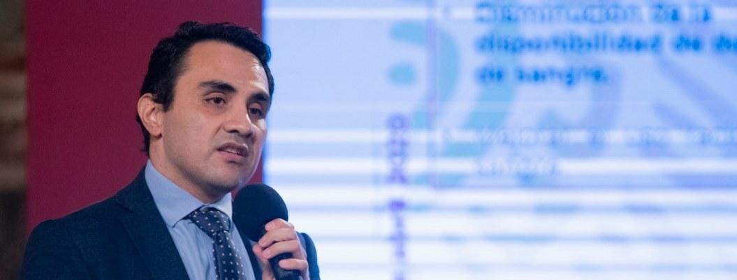 Jorge Enrique Trejo Gómora, director general del Centro Nacional de Transfusión de Sangre