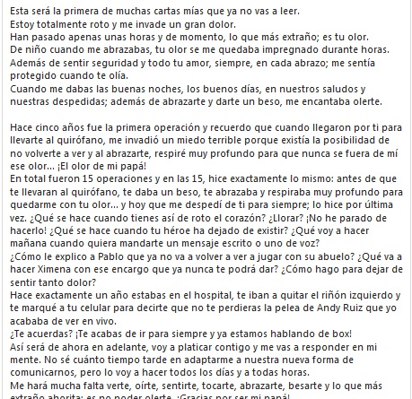 carta Héctor Suárez