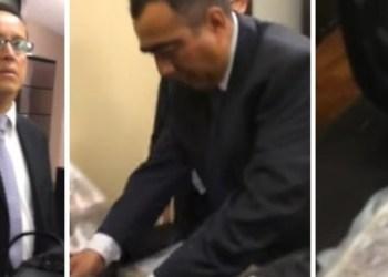 Exhiben en video a ex funcionarios del Senado recibiendo sobornos de Lozoya 3