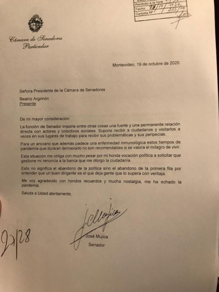 Pepe Mujica renuncia al Senado de Uruguay, y a la vida política 1