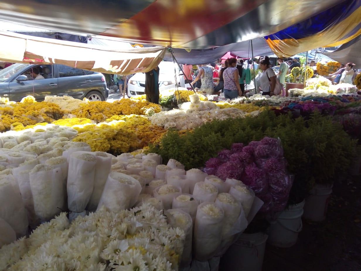 Baja la venta de flores para el Día de Muertos en Acapulco 1