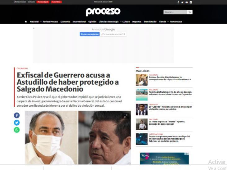 Félix Salgado y su tendencia por el abuso sexual a nivel nacional