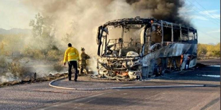 Hombres armados incendian camiones en Sonora; hay un chofer desaparecido 1