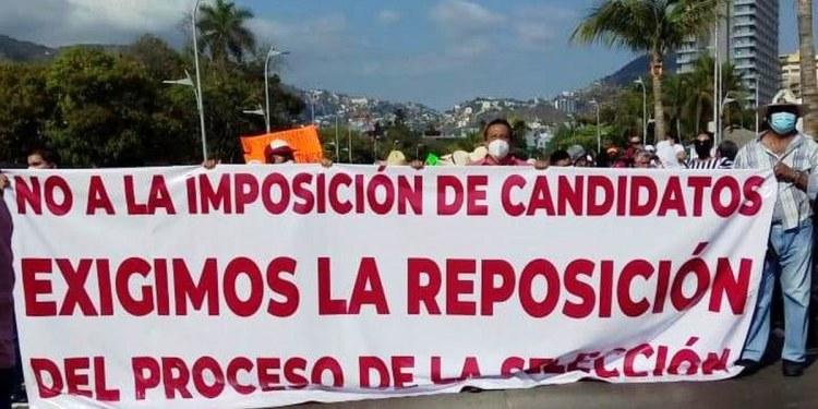 Marchan contra imposición de candidatos en Acapulco que hicieron Félix Salgado y Marcial Rodríguez 1