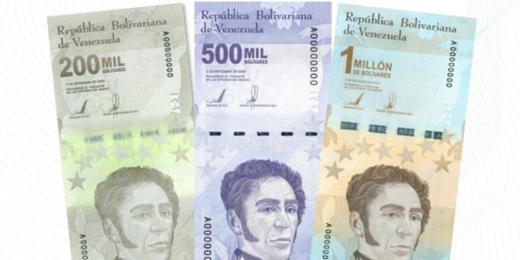 Venezuela anuncia nuevos billetes; 200 mil, 500 mil y un millón 1