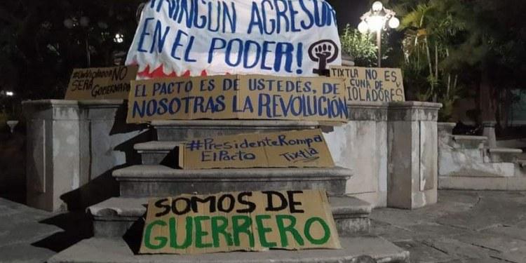 protesta contra Félix Salgado Tixtla