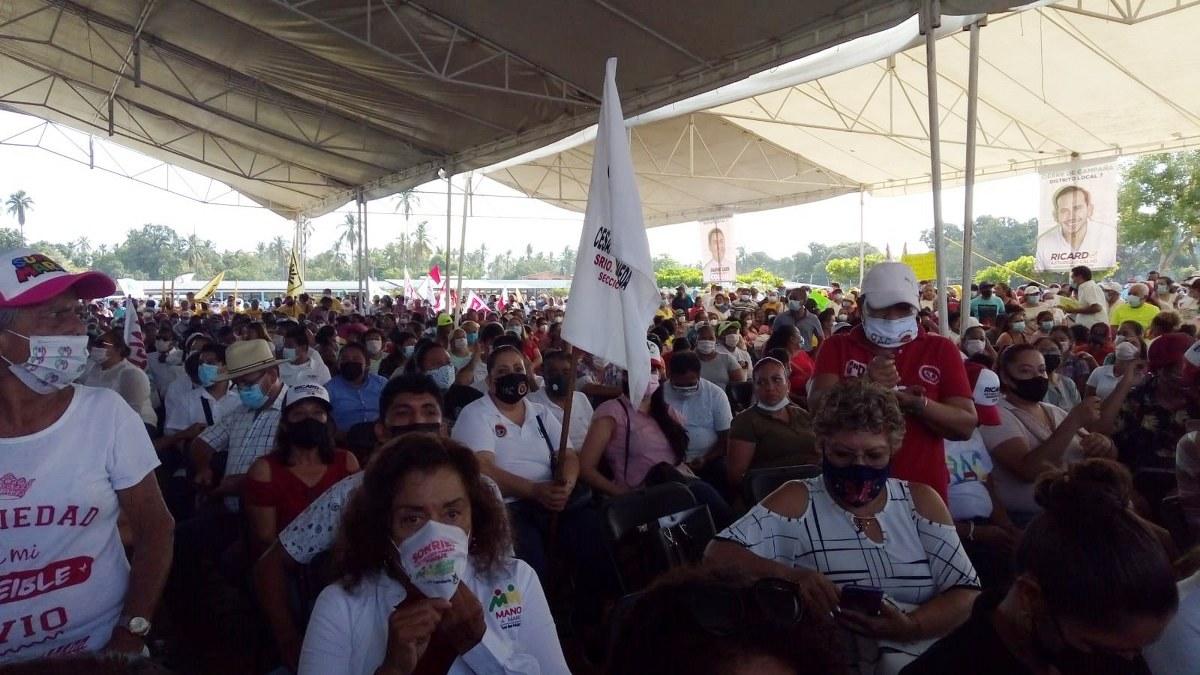 Ricardo Astudillo cierra con apoyo de morenistas y obradoristas en el distrito 7 de Acapulco 2