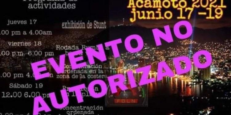 Gobierno de Guerrero niega autorización para el Acamoto 2021 1