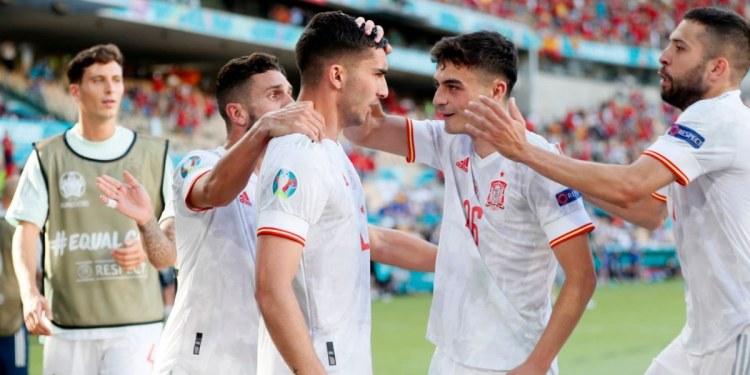 España consigue su pase a octavos de final de la Eurocopa 1