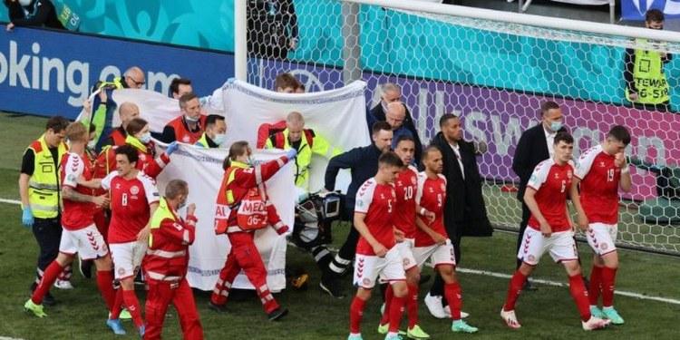 Futbolista Christian Eriksen se desmaya en partido de la Eurocopa 1