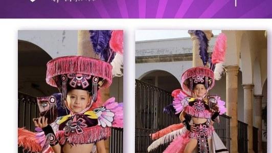 """Con traje de """"Doncella Chinela"""" gana niña morelense el concurso """"Mini México 2021"""" 3"""