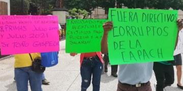 Chilpancingo: marchan empleados de la Capach por falta de pagos 1