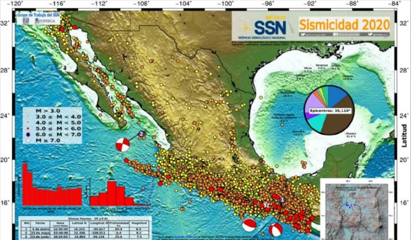 ¿Por qué tiembla tanto en México?; conoce el mapa sísmico 1