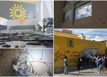Vandalismo e impunidad: normalistas destrozan otra vez oficinas del PRD en Chilpancingo 5