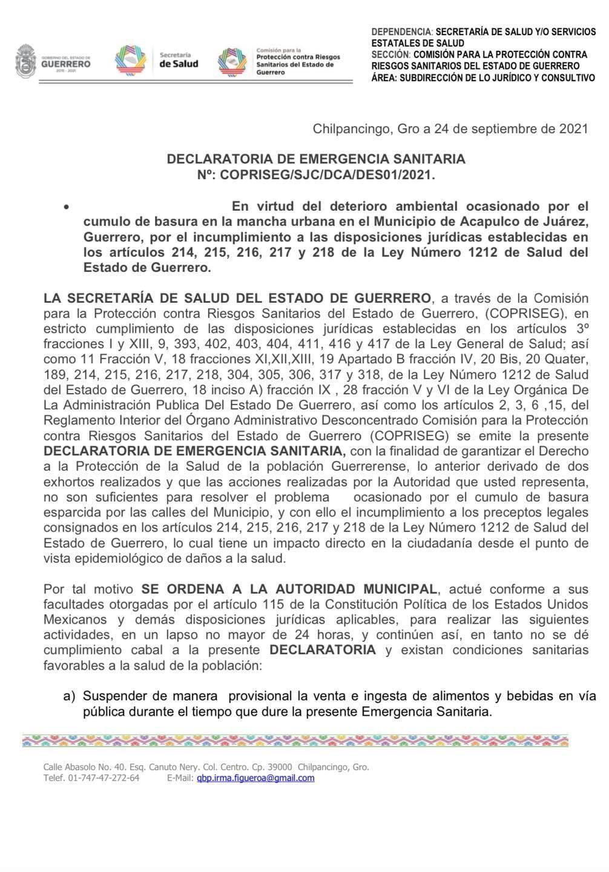 Acapulco: declaran emergencia sanitaria por montañas de basura; multan al ayuntamiento 2