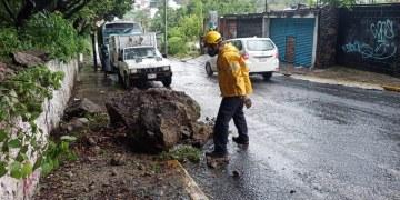 Inundaciones, deslaves y vehículos varados; saldo de las lluvias en municipios de Morelos 4