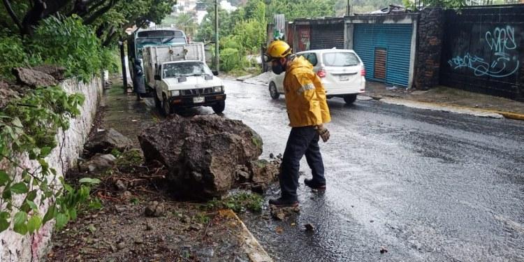 Inundaciones, deslaves y vehículos varados; saldo de las lluvias en municipios de Morelos 1